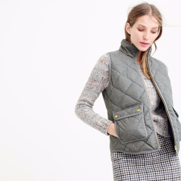 J.CREW Excursion Quilted Flannel Vest